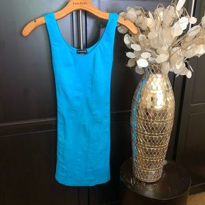 Bebe Blue Tube Dress with Back Cutout